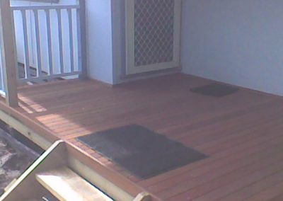 Back Porch With Deck and Stairs