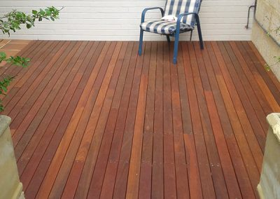 Completed Outdoor Area with Decking