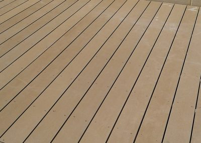 Light Brown Decking Area